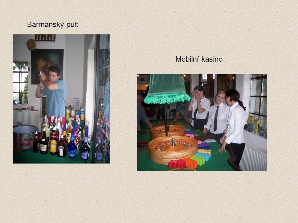 Barmanský pult Mobilní kasino