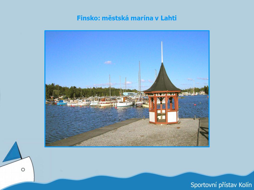 Finsko: městská marína v Lahti