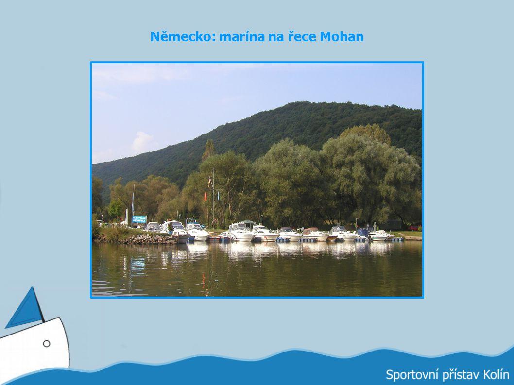 Německo: marína na řece Mohan