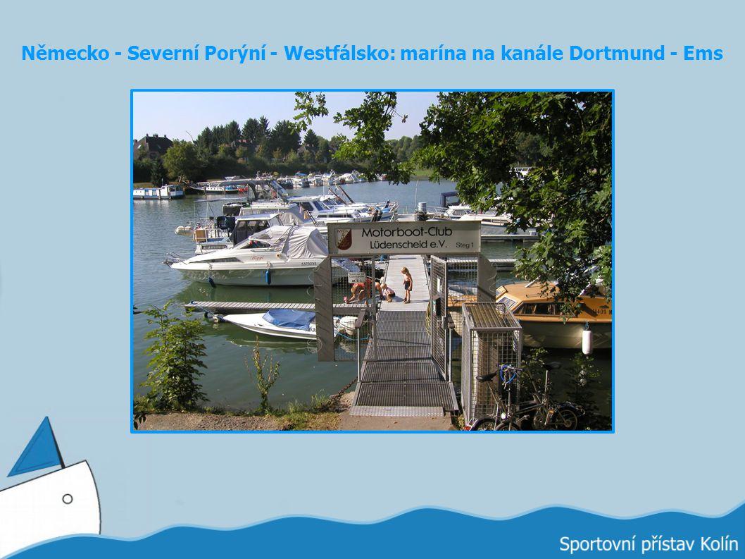 Německo - Severní Porýní - Westfálsko: marína na kanále Dortmund - Ems