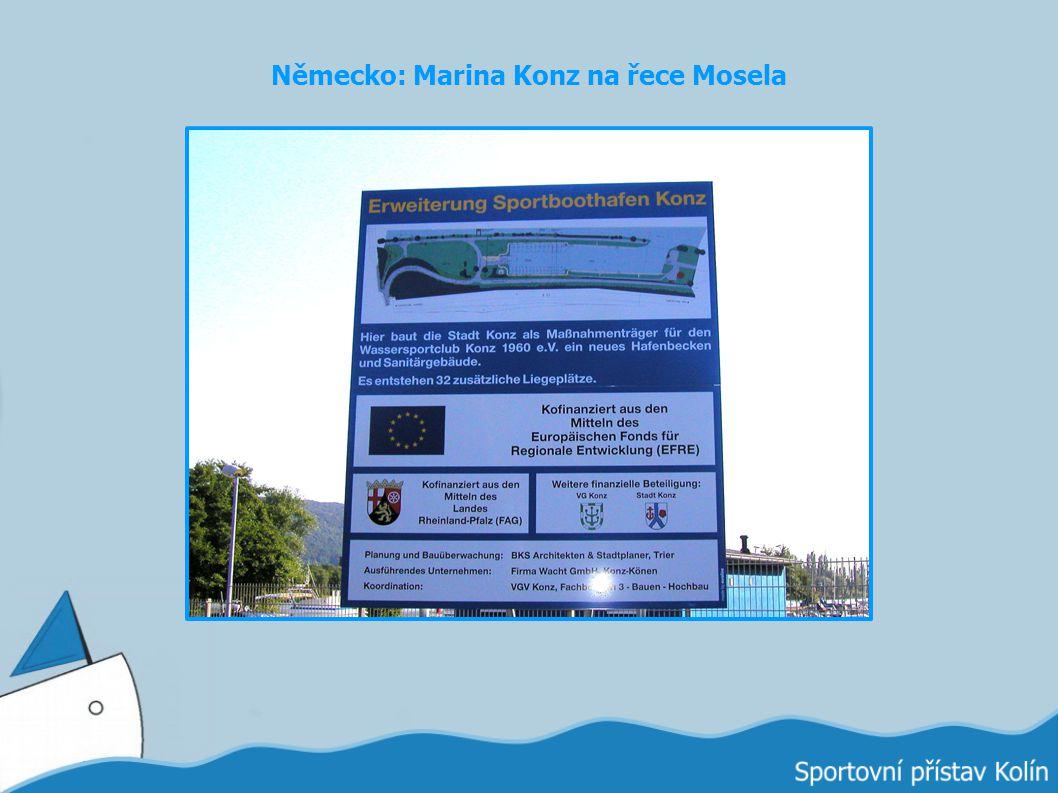 Německo: Marina Konz na řece Mosela