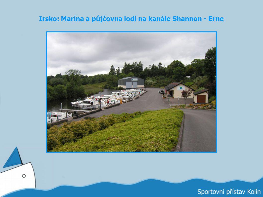 Irsko: Marína a půjčovna lodí na kanále Shannon - Erne