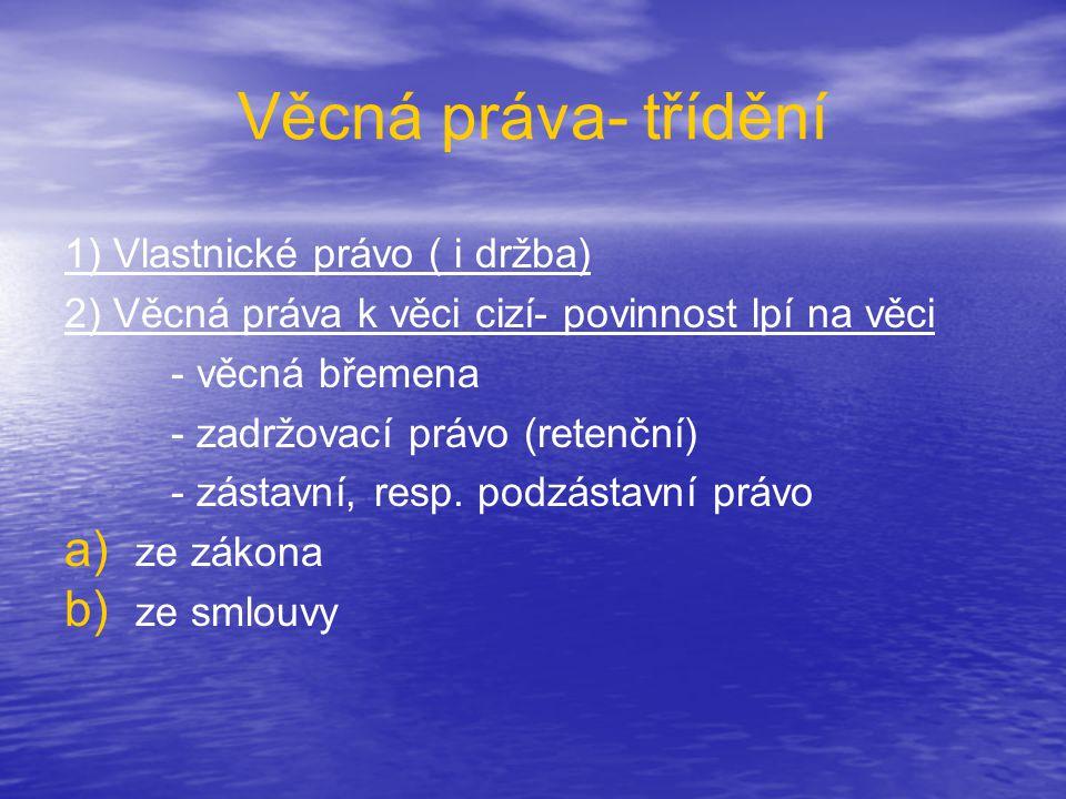 Vlastnictví • • Vyplývá z LZPS – čl.