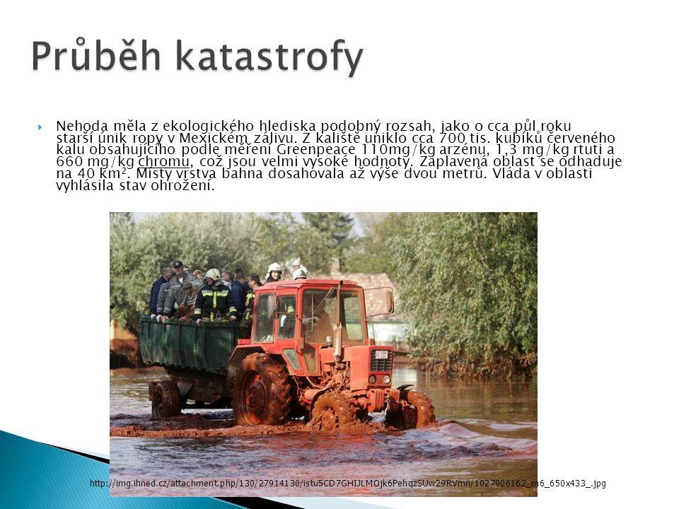  Nehoda měla z ekologického hlediska podobný rozsah, jako o cca půl roku starší únik ropy v Mexickém zálivu.