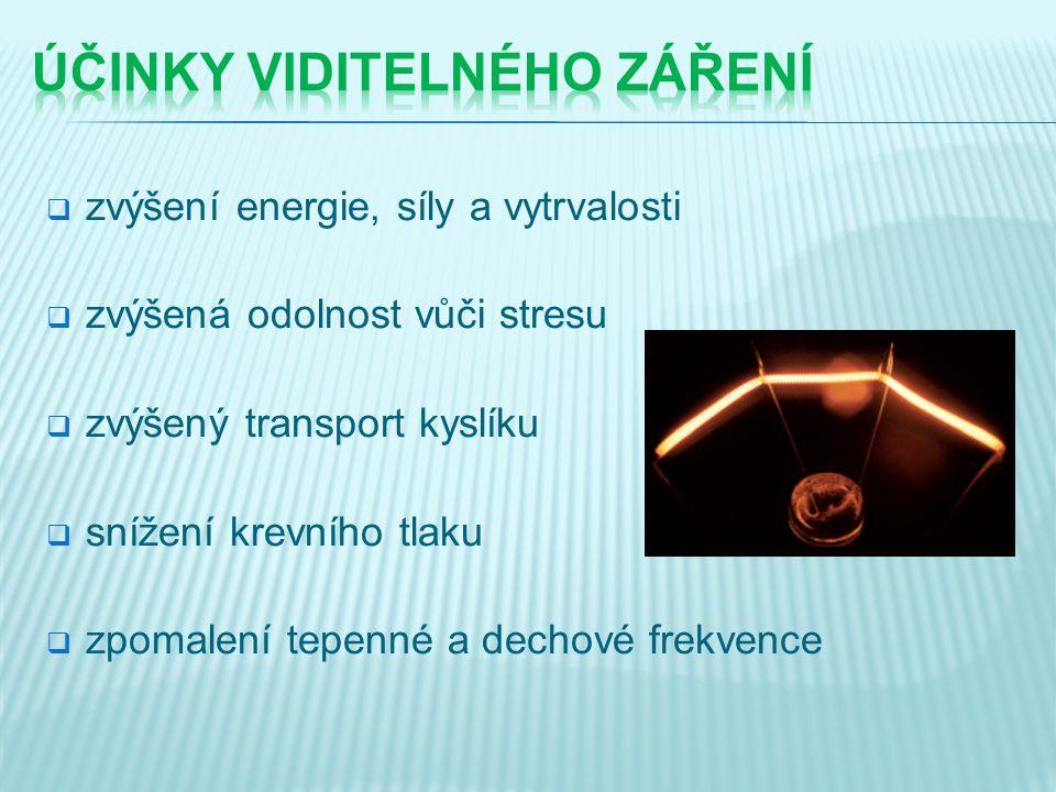  zvýšení energie, síly a vytrvalosti  zvýšená odolnost vůči stresu  zvýšený transport kyslíku  snížení krevního tlaku  zpomalení tepenné a dechov