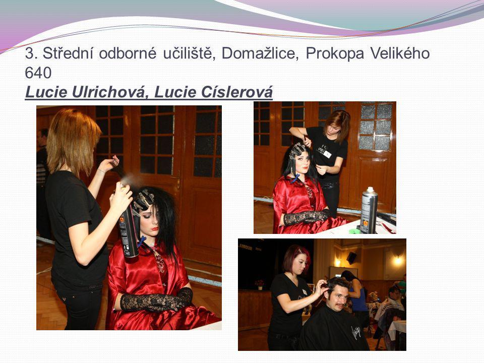 3. Střední odborné učiliště, Domažlice, Prokopa Velikého 640 Lucie Ulrichová, Lucie Císlerová