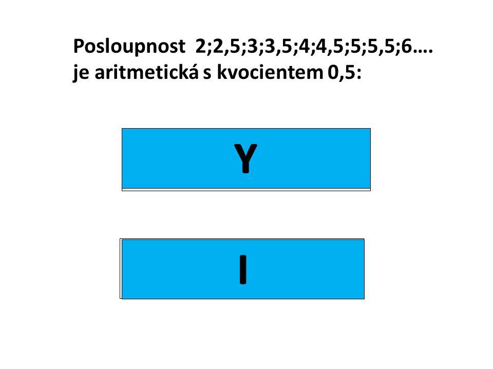 Posloupnost 2;2,5;3;3,5;4;4,5;5;5,5;6…. je aritmetická s kvocientem 0,5: ano ne