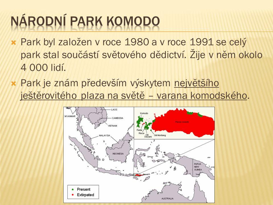  Park byl založen v roce 1980 a v roce 1991 se celý park stal součástí světového dědictví.