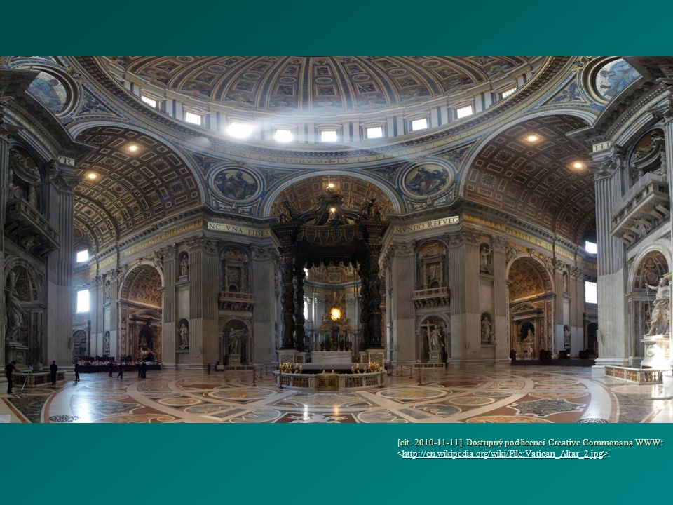 [cit. 2010-11-11]. Dostupný pod licencí Creative Commons na WWW:..http://en.wikipedia.org/wiki/File:Vatican_Altar_2.jpg