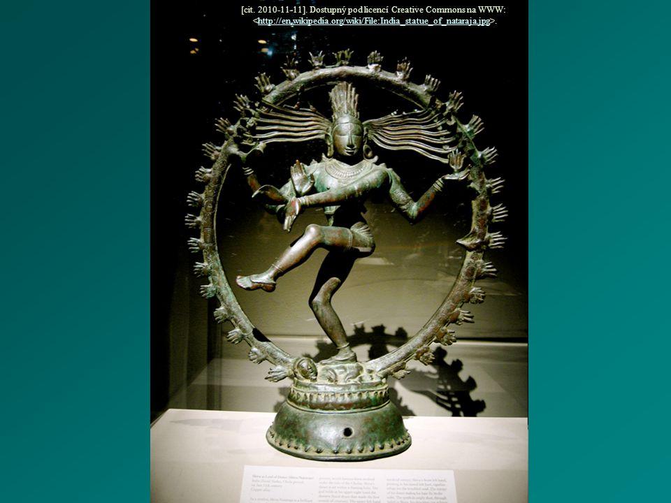 [cit. 2010-11-11]. Dostupný pod licencí Creative Commons na WWW:..http://en.wikipedia.org/wiki/File:India_statue_of_nataraja.jpg
