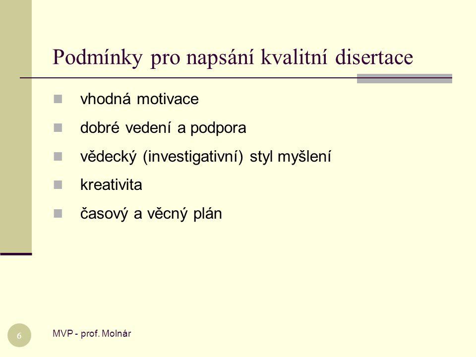 Sedm pocitů při zpracování disertace MVP - prof.