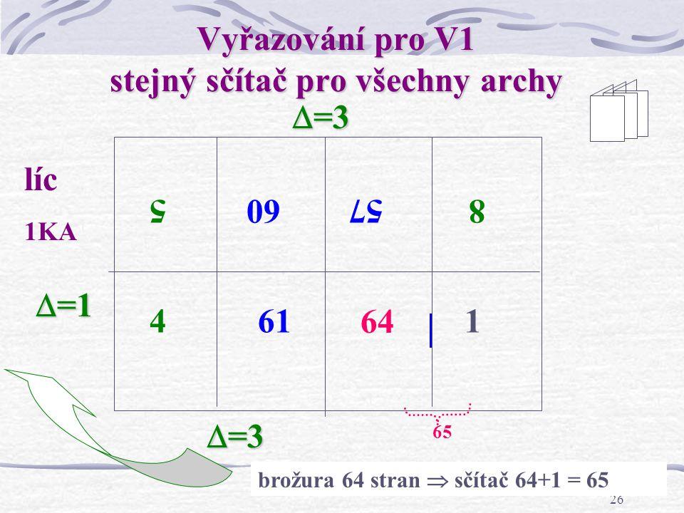 """25 Vyřazování stránek """"na obracení řez rublíc 8 stran  sčítač 1+8=9 1 tisková forma – obě strany  =1 1 9 8 4563 27"""