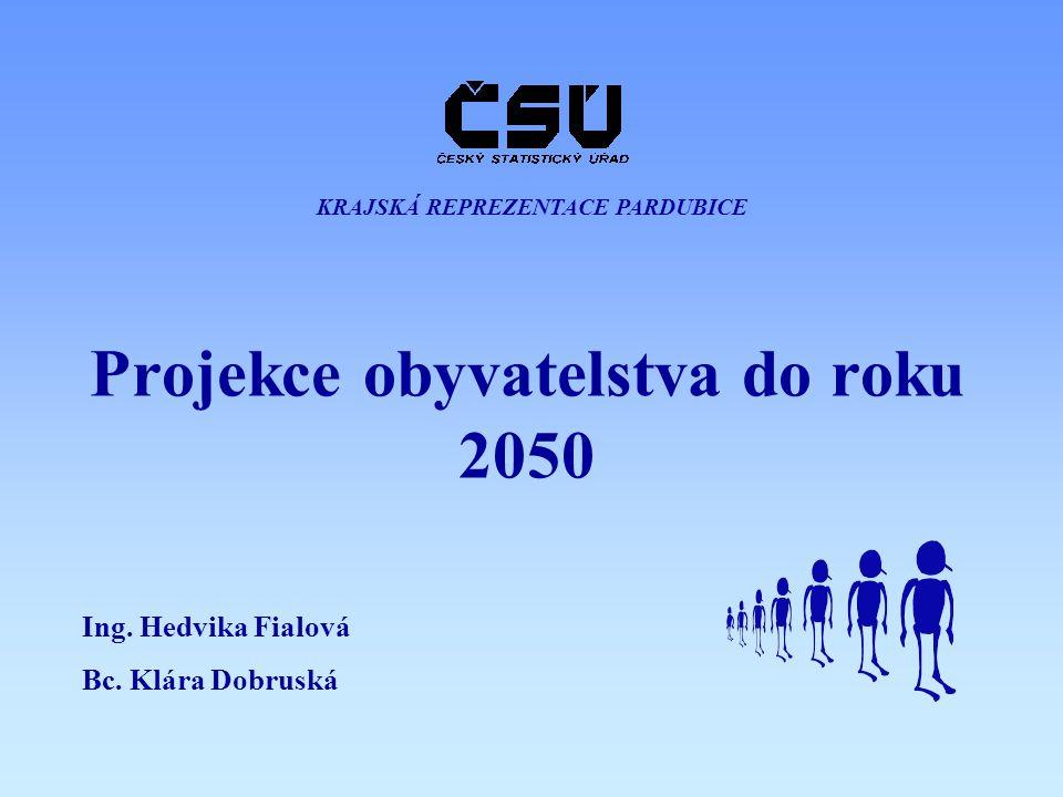 Projekce obyvatelstva do roku 2050 KRAJSKÁ REPREZENTACE PARDUBICE Ing. Hedvika Fialová Bc. Klára Dobruská