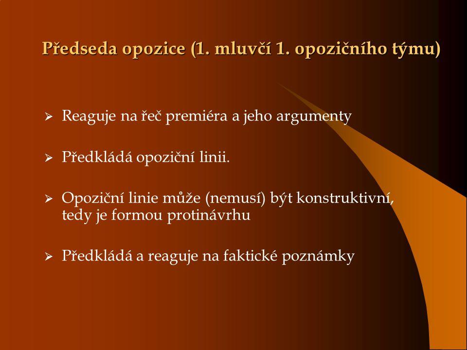 Předseda opozice (1. mluvčí 1.