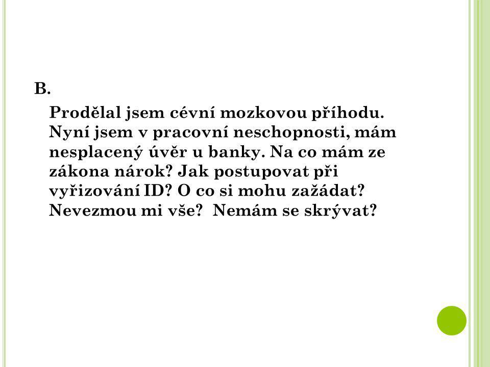 MODELOVÁ SITUACE B.