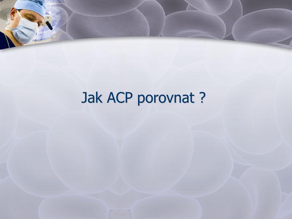 Jak ACP porovnat ?