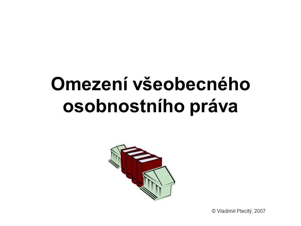 Omezení všeobecného osobnostního práva © Vladimír Plecitý, 2007