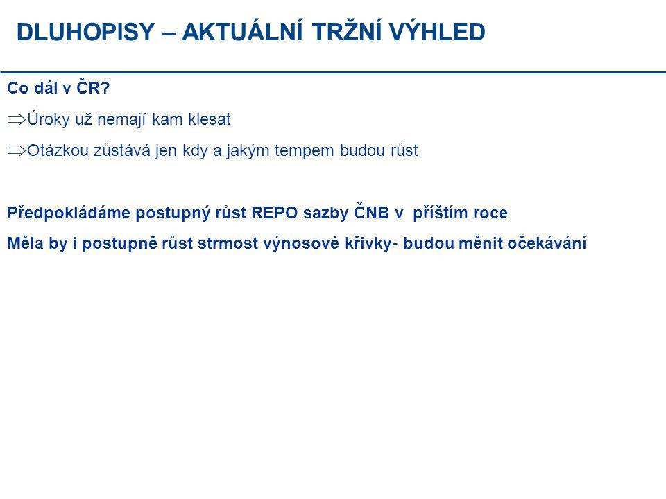 DLUHOPISY – AKTUÁLNÍ TRŽNÍ VÝHLED Co dál v ČR.