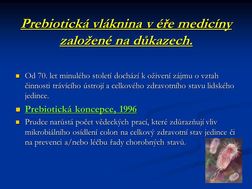 Prebiotická vláknina v éře medicíny založené na důkazech.