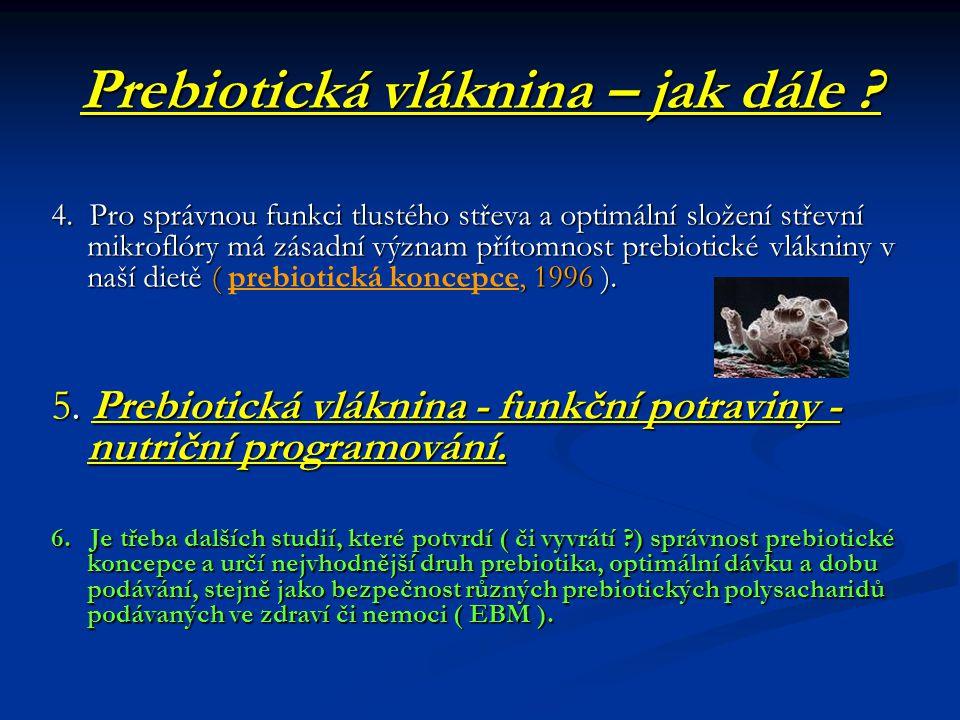 Prebiotická vláknina – jak dále .4.