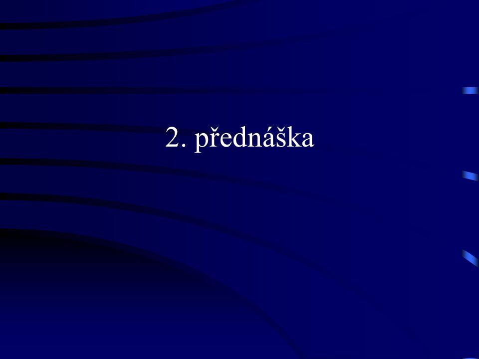 2. přednáška
