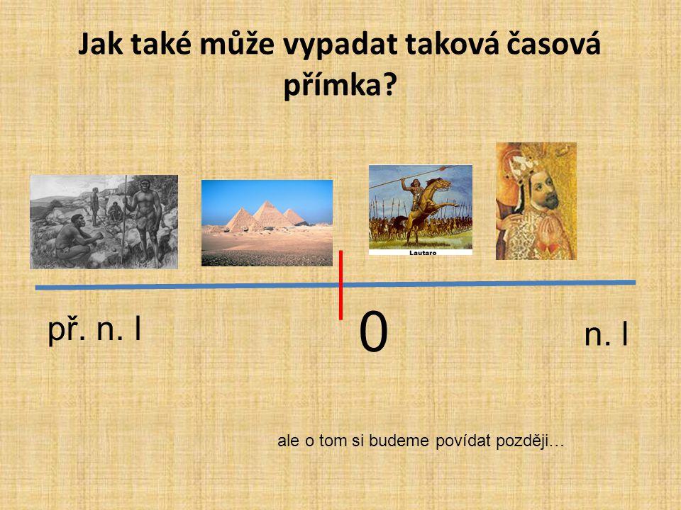Čas a historie 0 př. n. ln. l • Historii můžeme graficky znázornit na časové přímce vše, co se odehrálo před rokem nula, říkáme, že se odehrálo před n