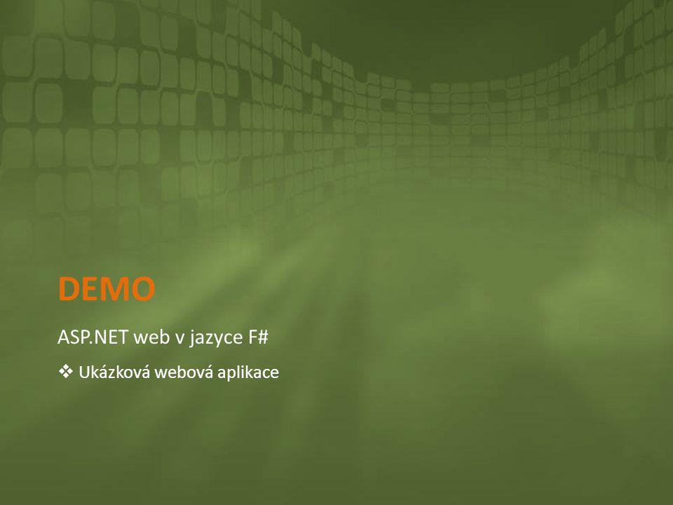 DEMO ASP.NET web v jazyce F#  Ukázková webová aplikace