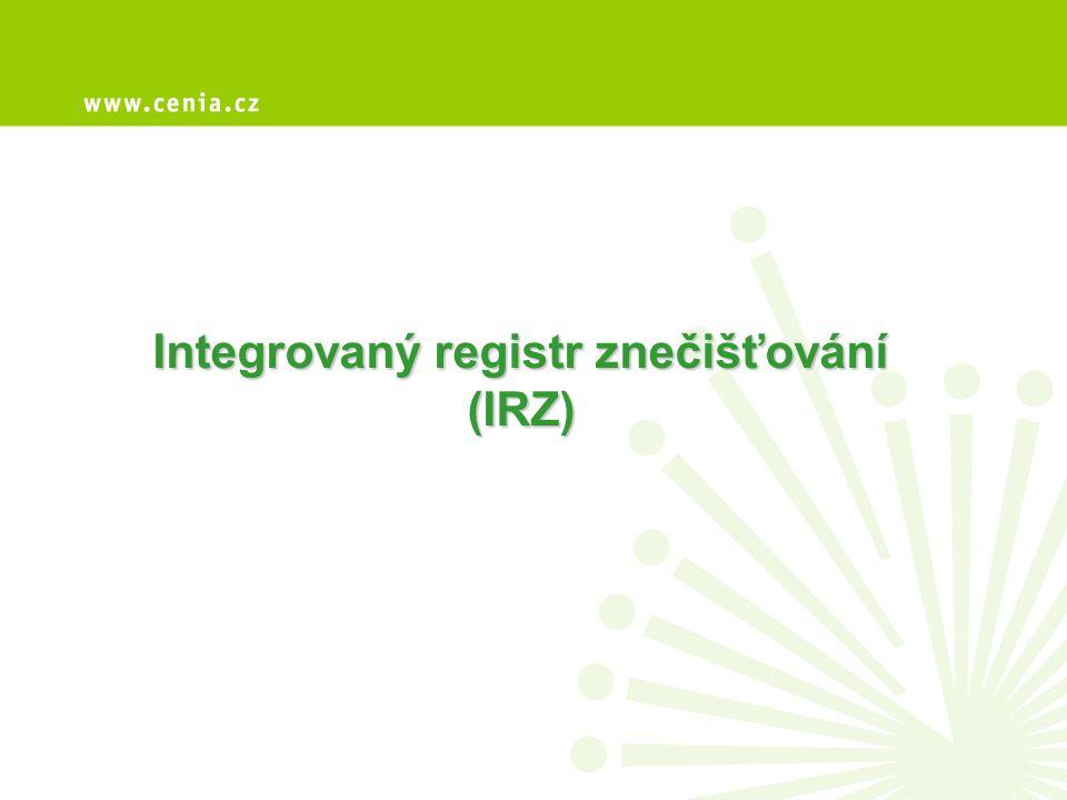 Legislativa relevantní v roce 2010 (ohlašovací rok 2009) • Nařízení č.