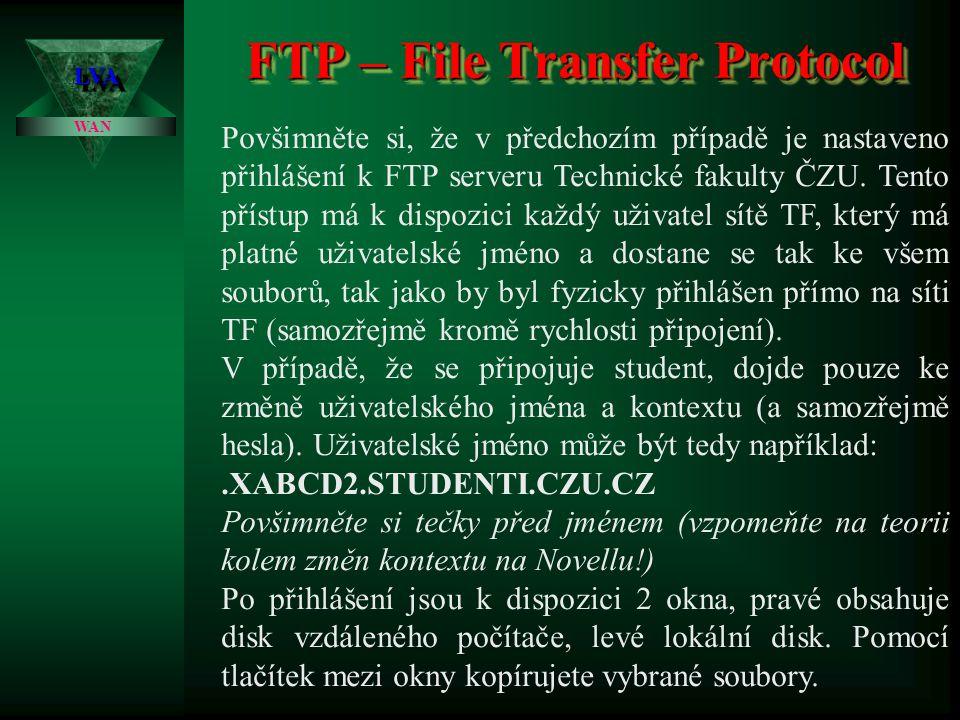 FTP – File Transfer Protocol LVALVA WAN