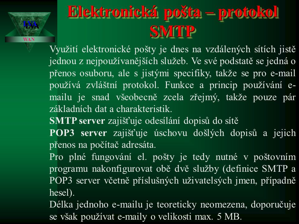 FTP – File Transfer Protocol LVALVA WAN Druhým programem je program ITace32.