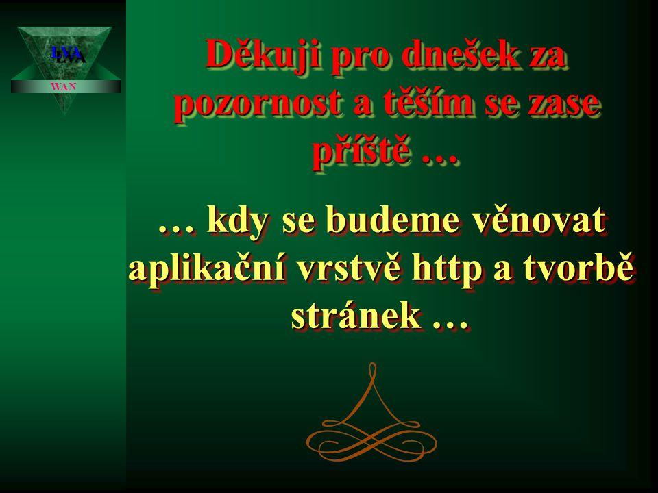 HTTP – World Wide Web LVALVA WAN Je pro každého jistě důvěrně známou službou.