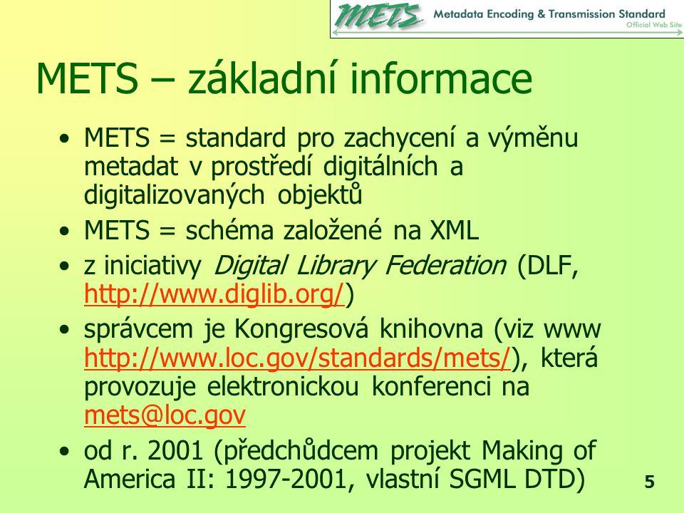 26 METS záznamu strany