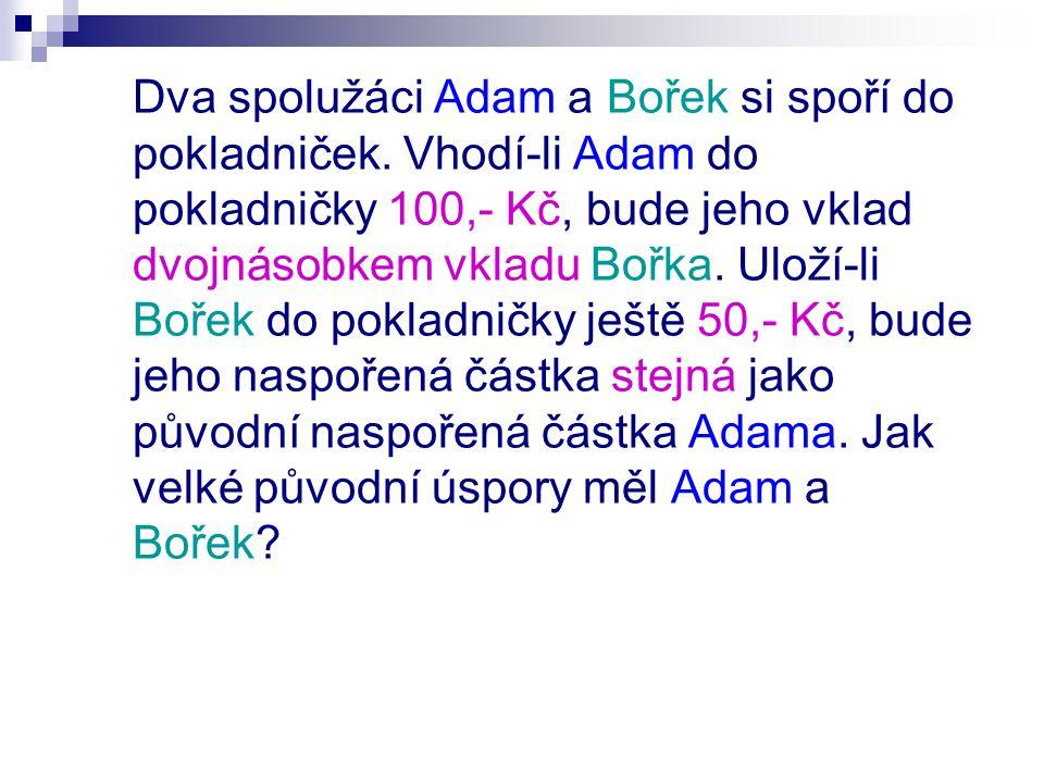Dva spolužáci Adam a Bořek si spoří do pokladniček.