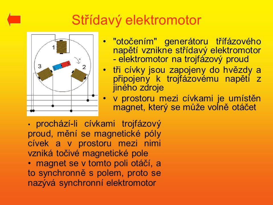 Střídavý elektromotor •