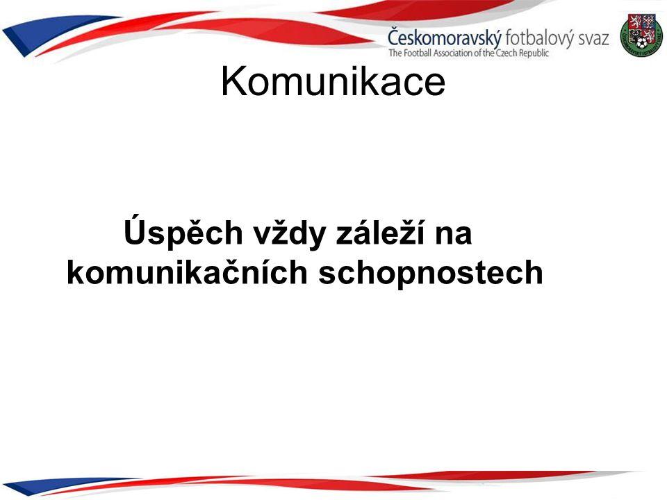 Komunikace Úspěch vždy záleží na komunikačních schopnostech