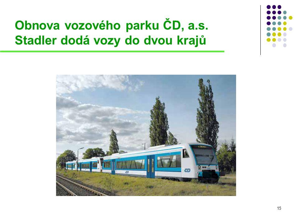Obnova vozového parku ČD, a.s. Stadler dodá vozy do dvou krajů 15