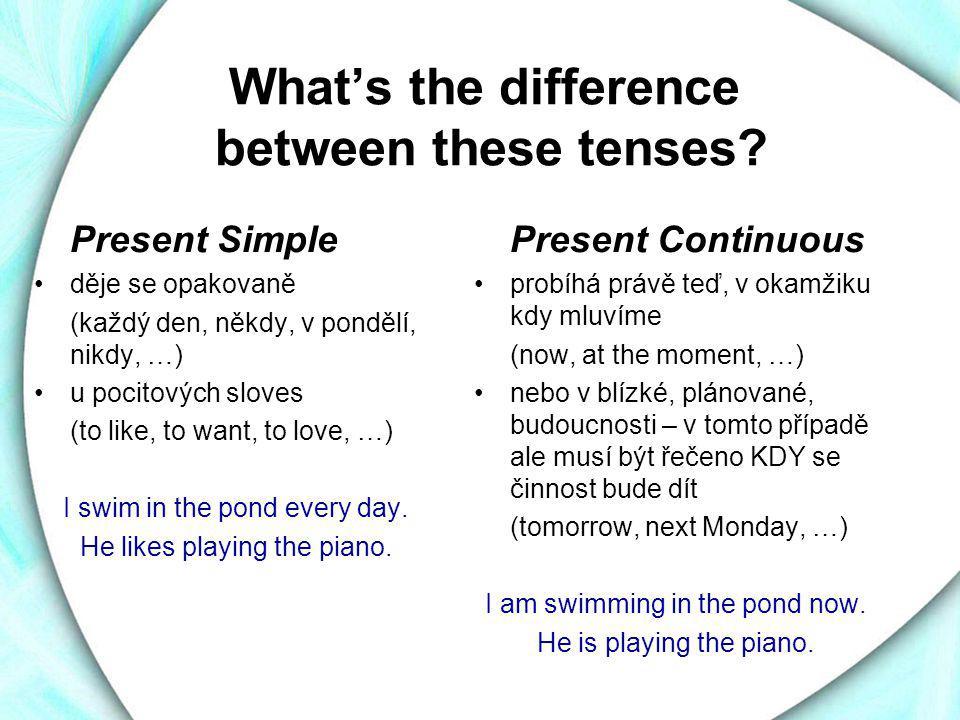 How to make a positive sentence Present Simple podmět + (frekvenční příslovce) + sloveso + zbytek věty + (příslov.