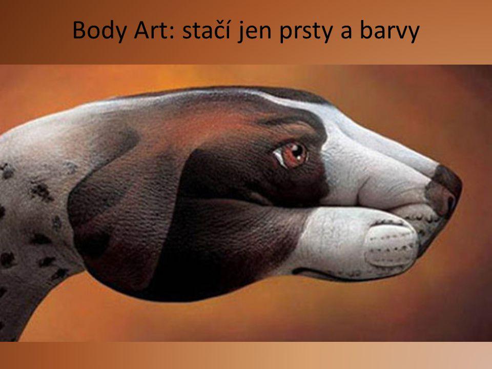 Body Art: stačí jen prsty a barvy