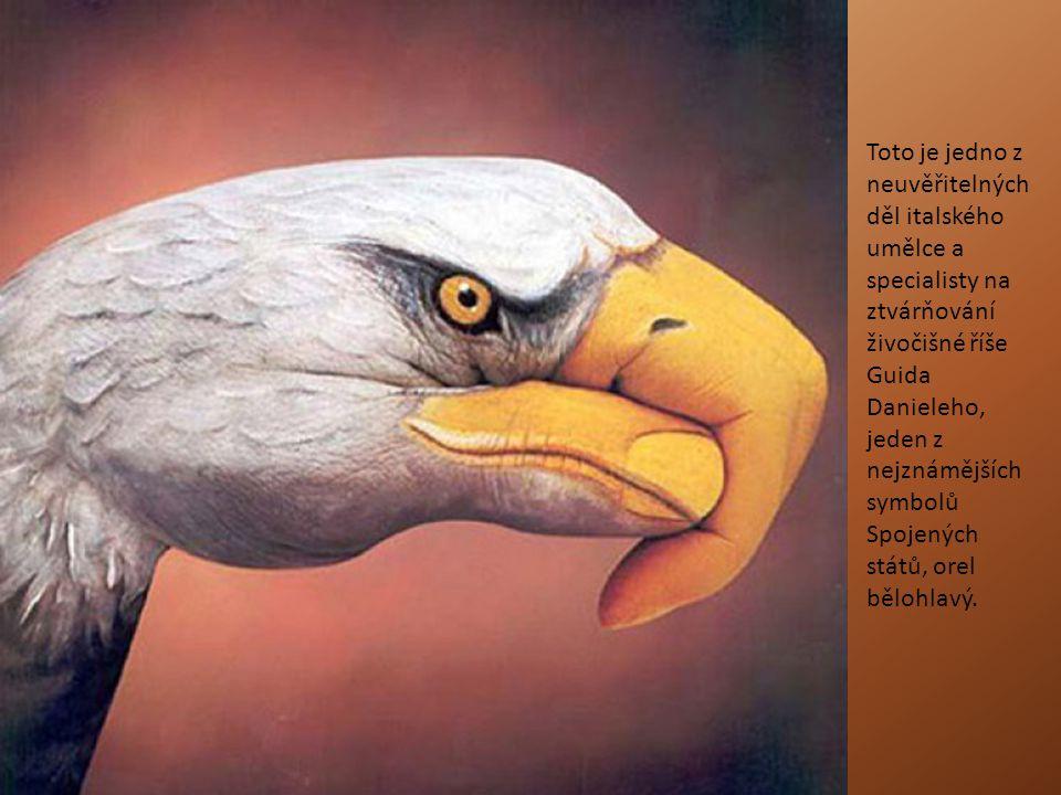 Toto je jedno z neuvěřitelných děl italského umělce a specialisty na ztvárňování živočišné říše Guida Danieleho, jeden z nejznámějších symbolů Spojený