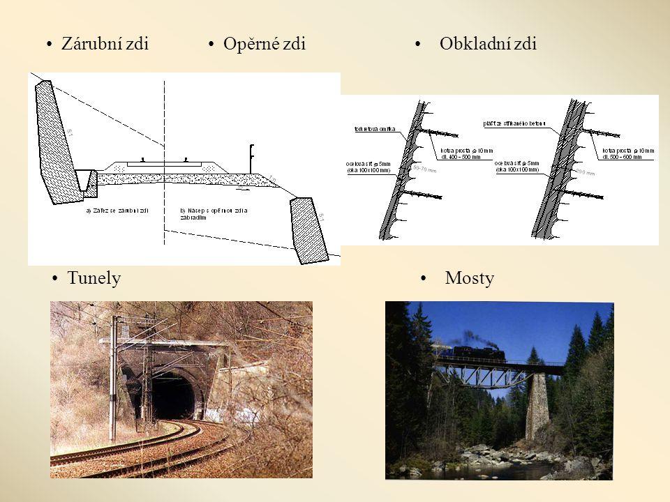 • Zárubní zdi• Opěrné zdi•Obkladní zdi •Mosty• Tunely