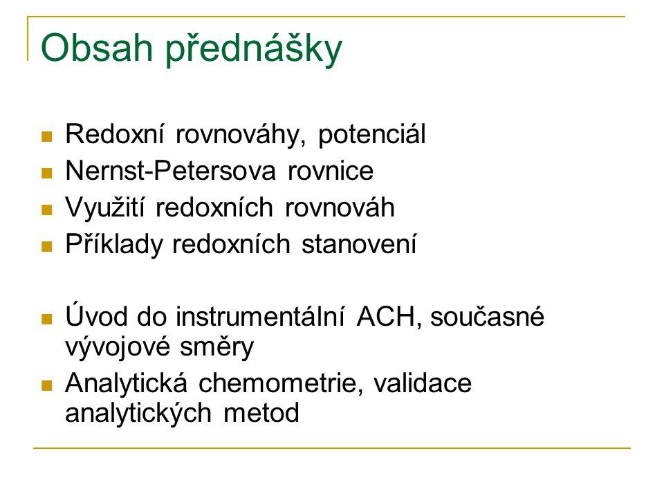 Úvod do instrumentální ACH  Využití fyzikálních a fyzikálně chemických metod (měření fyzikální veličiny)  Nepřímé metody  Obsah analytu zjišťován nejčastěji z kalibračního grafu