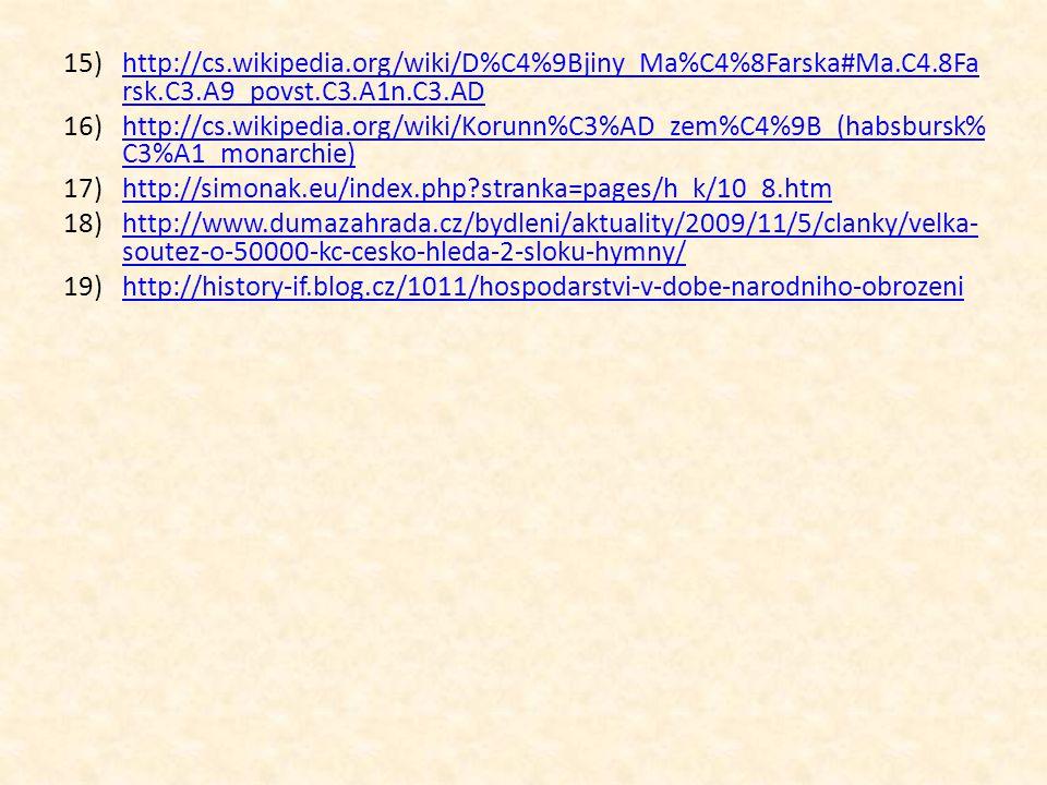 15)http://cs.wikipedia.org/wiki/D%C4%9Bjiny_Ma%C4%8Farska#Ma.C4.8Fa rsk.C3.A9_povst.C3.A1n.C3.ADhttp://cs.wikipedia.org/wiki/D%C4%9Bjiny_Ma%C4%8Farska