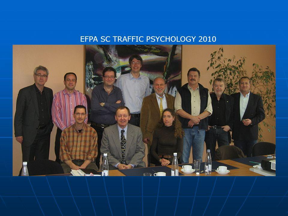 Zaměření SC TP  Role dopravní psychologie: co mohou dělat dopravní psychologové a které úkoly mohou být prováděny pouze dopravními psychology  Hlavní pracovní oblasti: zjišťování psychické způsobilosti řidičů, řidičské licence (ŘP) – zaměření na zlepšení kvality výcviku a zvýšení interdisciplinární aktivity ( s lékaři, autoškolami, apod.), výzkum dopravní bezpečnosti  Nové oblasti: spolupráce při konstrukci automobilů, návrzích infrastruktury, nových technologiích ve vozidle– ISA, intelligent transportation system ITS, apod.)