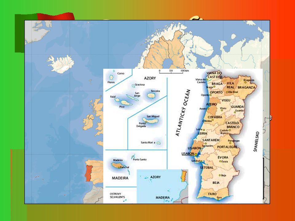 Geografie  Přímořský stát rozkládající se na západě Pyrenejského poloostrova při pobřeží Atlantského Oceánu  Nejzápadnější evropský pevninský stát (