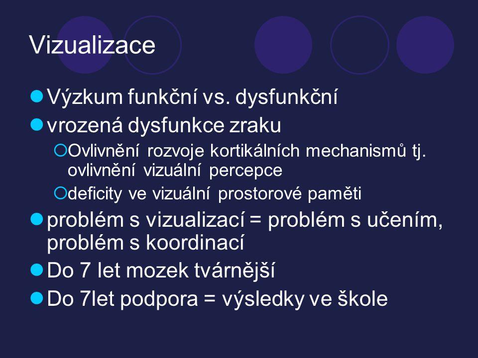 Vizualizace  Výzkum funkční vs.