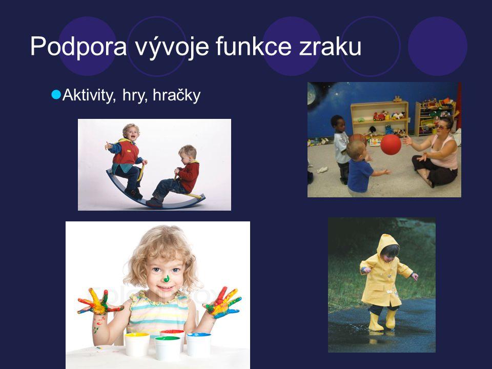 Podpora vývoje funkce zraku  Aktivity, hry, hračky