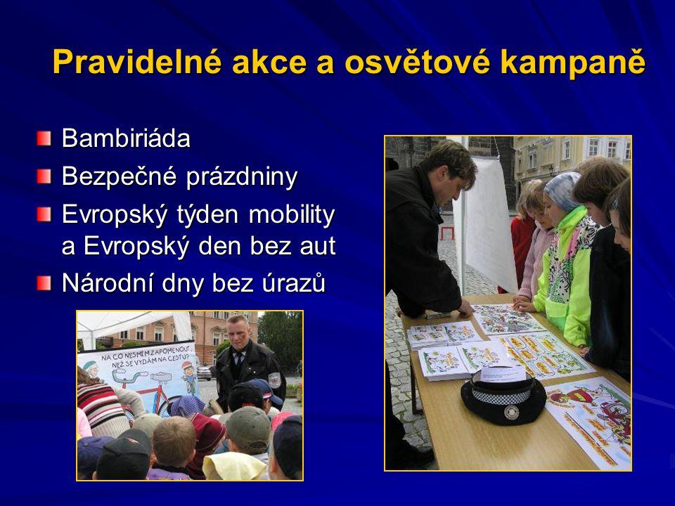 Pravidelné akce a osvětové kampaně Bambiriáda Bezpečné prázdniny Evropský týden mobility a Evropský den bez aut Národní dny bez úrazů