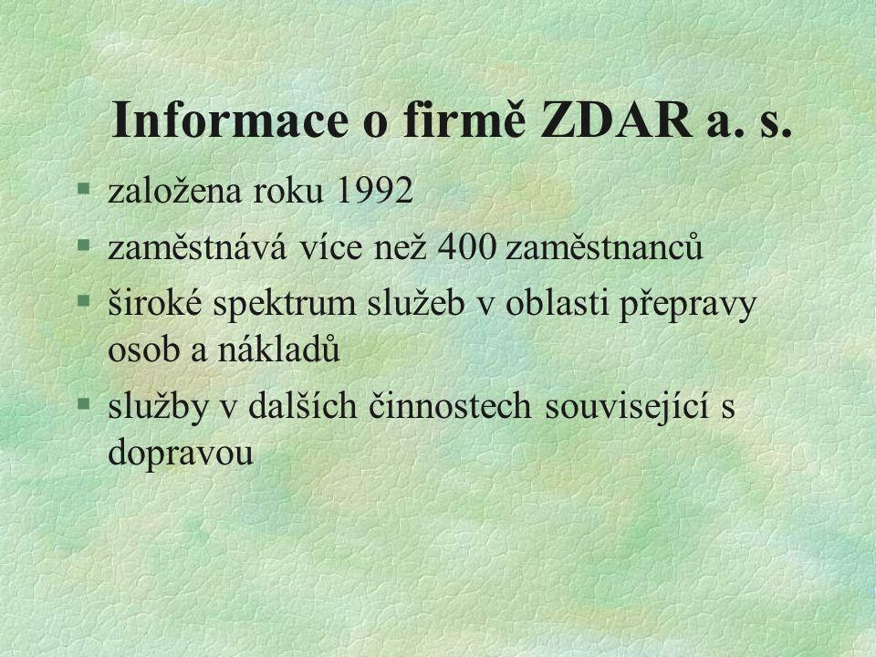 Informace o firmě ZDAR a.s.