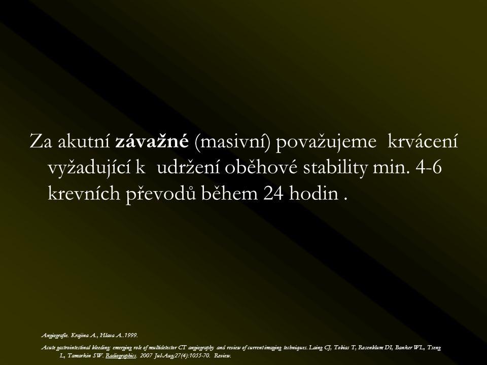 Endovaskulární léčba kazuistika I.