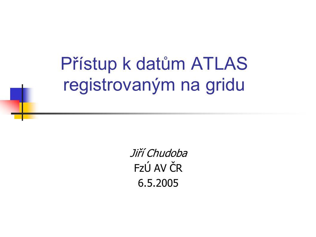 Přístup k datům ATLAS registrovaným na gridu Jiří Chudoba FzÚ AV ČR 6.5.2005